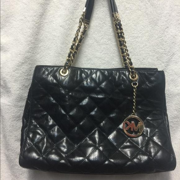 561a610d0d01 MICHAEL Michael Kors Bags | Authentic Susannah Black Large Leather ...